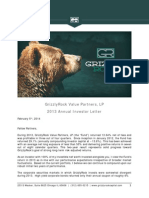 GrizzlyRock 2013 Annual Investor Letter