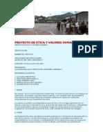 Proyecto de Etica y Valores Humanos