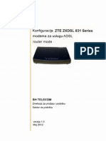 Zte Zxdsl 831 Series Adsl Pppoe Router Mode