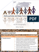 population distribution  density