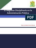 El Régimen Disciplinario en La Administración Pública
