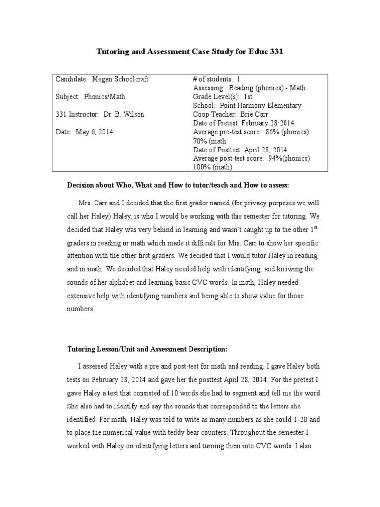 elementary reading case study