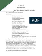 La Mesa de San Andrés. Entre Los Olvidos de Arriba y La Memoria de Abajo