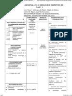 Biología General, 2013. Secuencia Didáctica de La U_ i