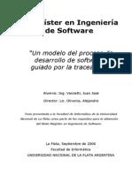 Un Modelo Del Proceso de Desarrollo de Software Guiado Por La Traceability