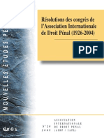 Resolutions Des Congres de Lassociation Internationale de Droit Penal