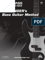 Behringer Bass Guitar Method