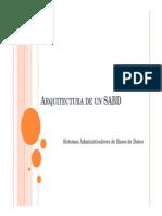 D01 - Arquitectura de Un SABD