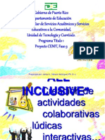 1 Creación de Actividades Colaborativas Lúdicas Interactivas