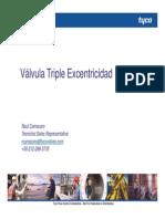 Válvula Triple excéntricidad