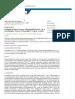 Evaluation of Vapor Pressures