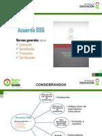 Acuerdo 696 Reporte de Evaluación 2013
