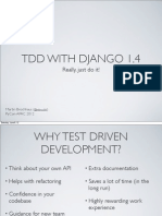 Tdd With Django