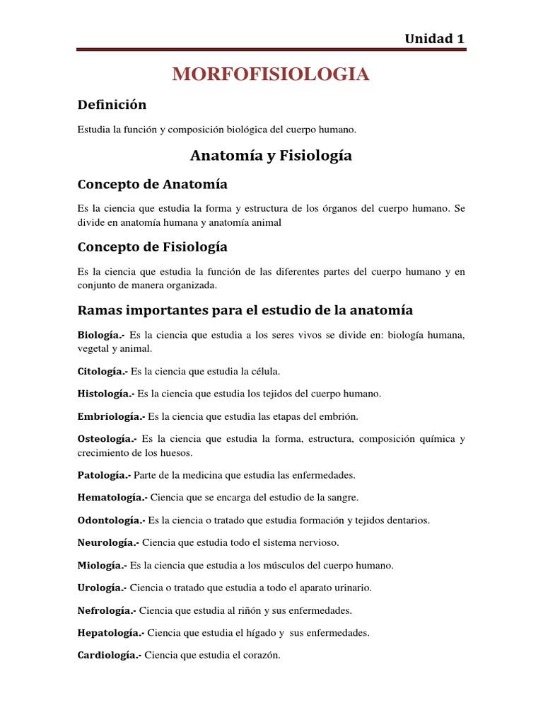 Planos Anatomicos Unidad 1