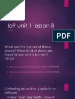 io9 unit 1 lesson b