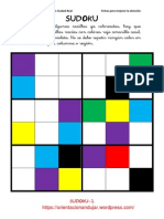 Sudokus Coloreando 6x6 Fichas 1 15
