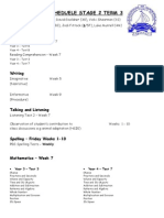 assessment scheduele stage 2 term 3