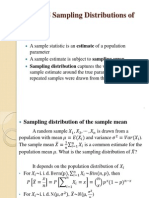 sample distribution statistics