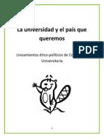 Lineamientos Ético-políticos de Coherencia Universitaria.