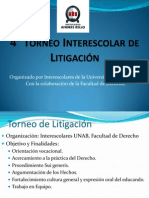 4to Torneo Interescolar de Litigación 2014