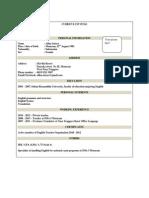 Contoh CV Dalam Bahasa Inggris 1