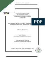 Evaluacion de Las Instalaciones y Condiciones Higienico Sanitarias Del Rastro de Panindicuaro Michoacan