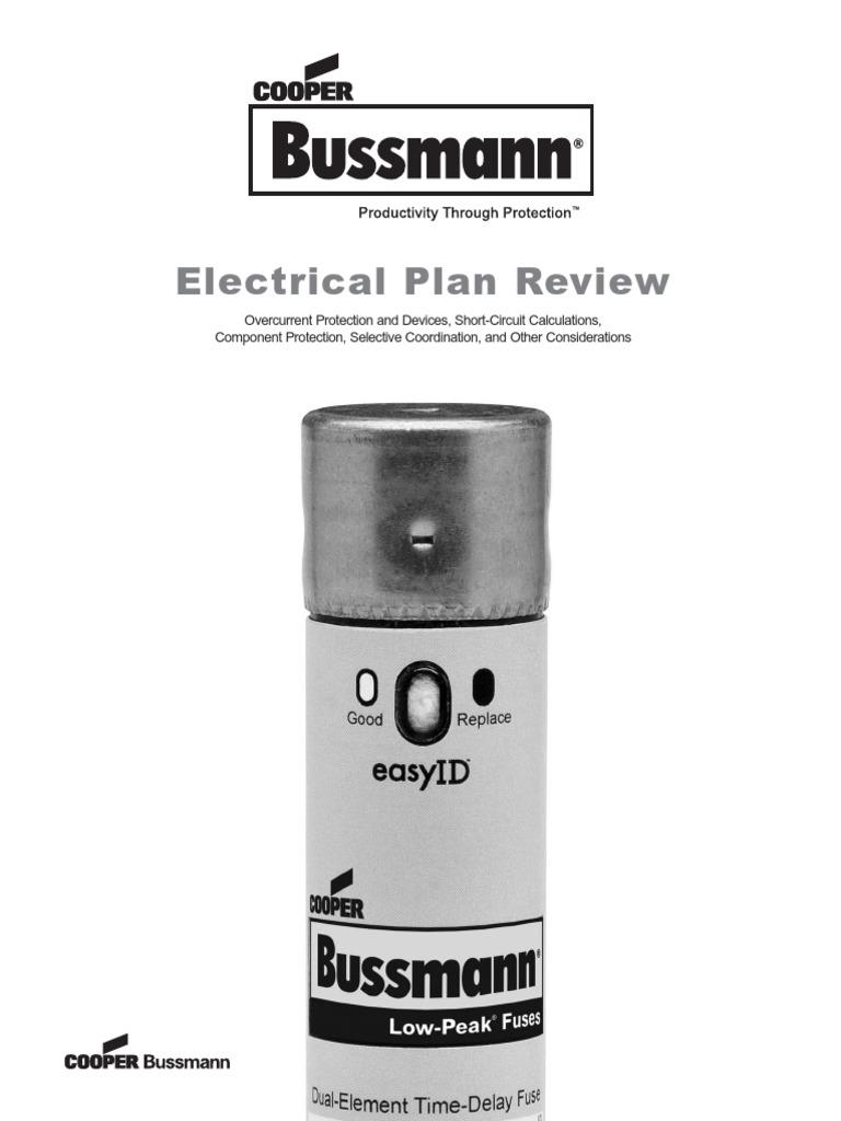 des bussman electrical plan review | fuse (electrical) | transformer  scribd