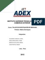 Investigación de Mercado - Aceitunas 2012