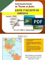 America Hidrografía y Relieve Americano