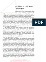 1. Introduction to the Outline of Great Books by John Erskine, Pp. III-Vi