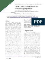 A Single to Multi-Cloud Security Based on Secret Sharing Algorithm by a.mallareddy, V.bhargavi & K .Deepika Rani