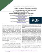 Handwritten Urdu Character Recognition Using Zernike MI's Feature Extraction and Support Vector Machine Classifier by Devendra Singh Kaushal, Yunus Khan & Dr. Sunita Varma