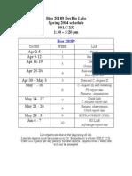 20189 s14 Lab Schedule