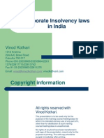 Corporate Insolvency Laws in India