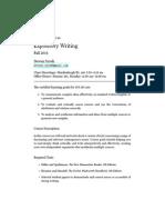 Expository Writing Syllabus