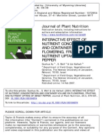 Interactive Effect of Nutrient Concentration and Container Volume on Flowering, Fruiting, And Nutrient