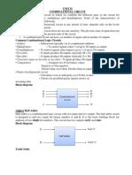 Digital Electronics Unit II notes