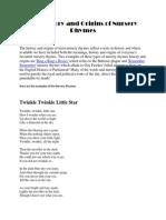 The History and Origins of Nursery Rhymes