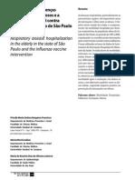 Internações Por Doenças Respiratórias Em Idosos e a Intervenção Vacinal Contra Influenza No Estado de Sao Paulo