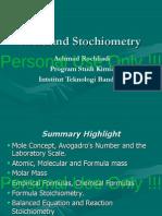 KI1101-2012-KD Lec02b TheMoleAndStochiometry