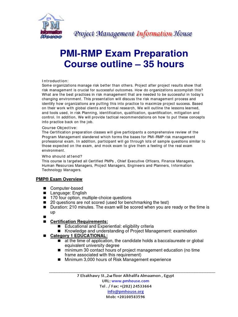 Pmi Rmpexampreparation V1 Risk Management Risk