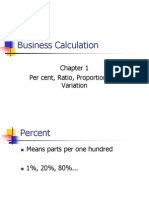Chapter 1 Percent, Ratio and Proportion