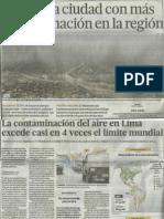 Contaminación Del Aire-El Comercio