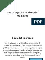 Clase 8 Las 22 Leyes Inmutables Del Marketing