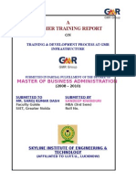 Training & Development at Gmr