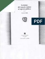 Petit, Michele, 2001 Lecturas Del Espacio Íntimo Al Espacio Público.