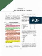 Examination of Steel Castings (ASME VIII Div 1)