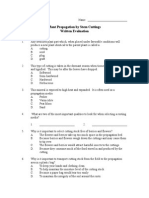 Plant Propagation by Stem Cuttings Test in Microsoft Word