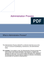 Administration domino lotus notes Process
