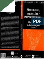 Monumentos Memoriales y Marcas Territoriales